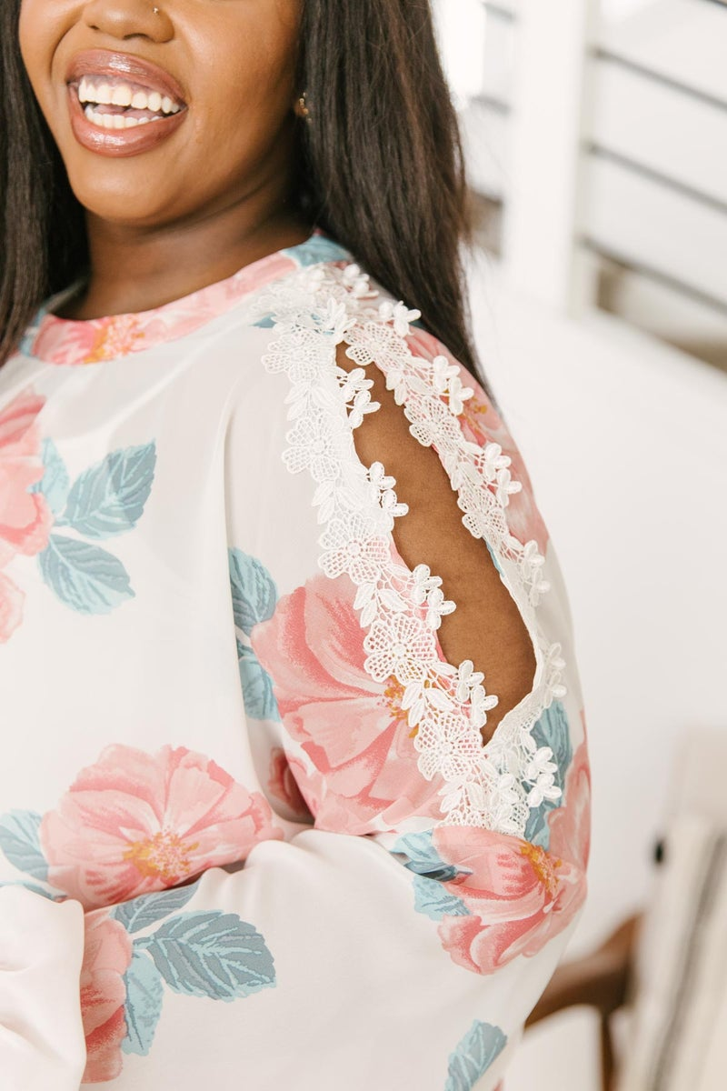 Maisy Floral Blouse in Ivory