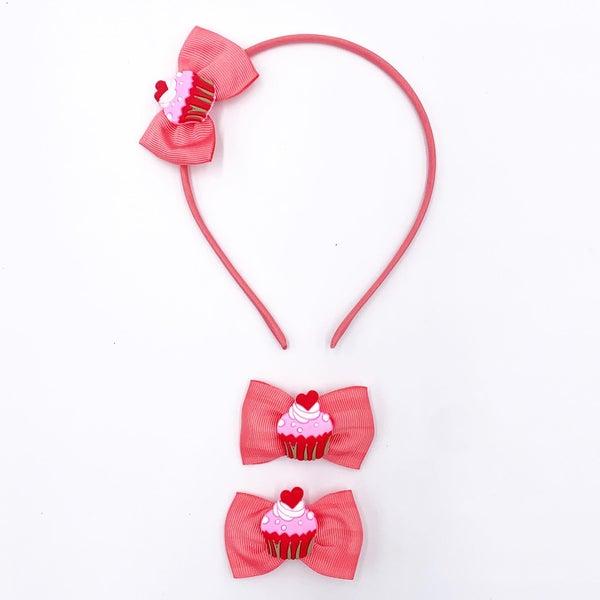 Cupcake Bow and Headband