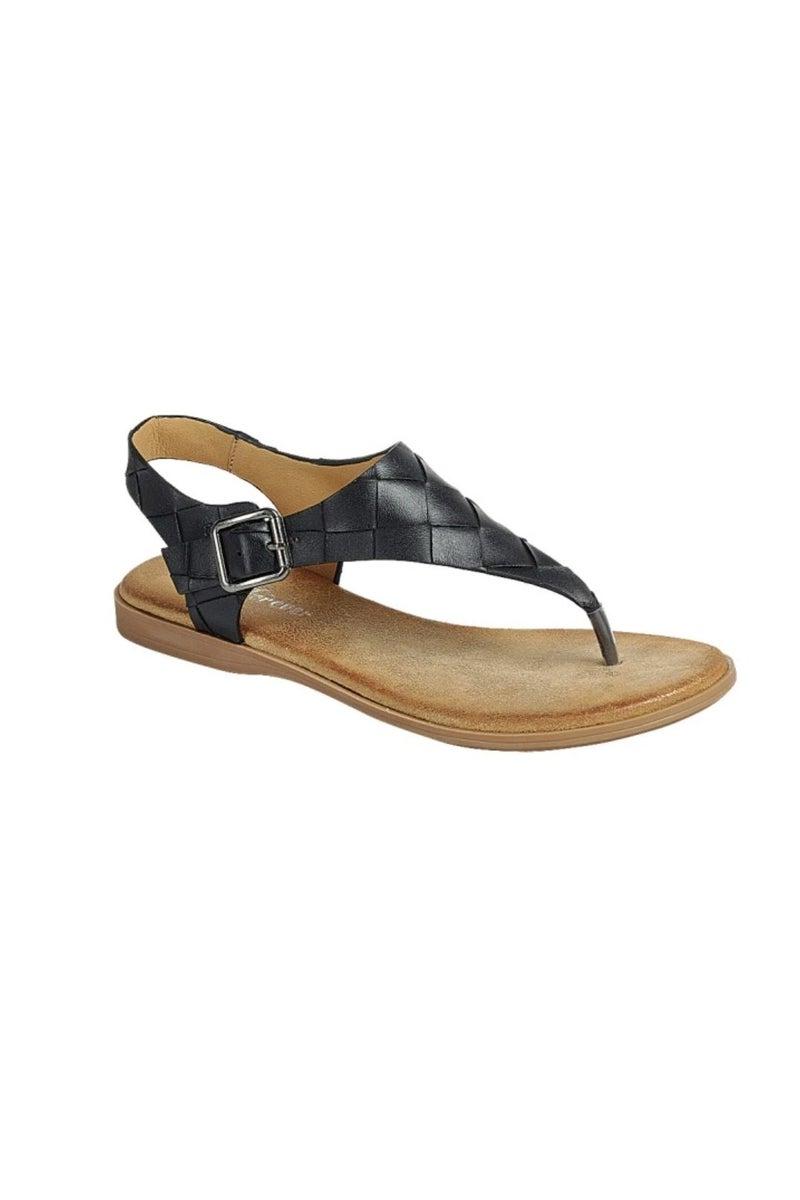 Black Braided Slingback Sandal