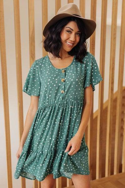Sweet Dots Dress in Green