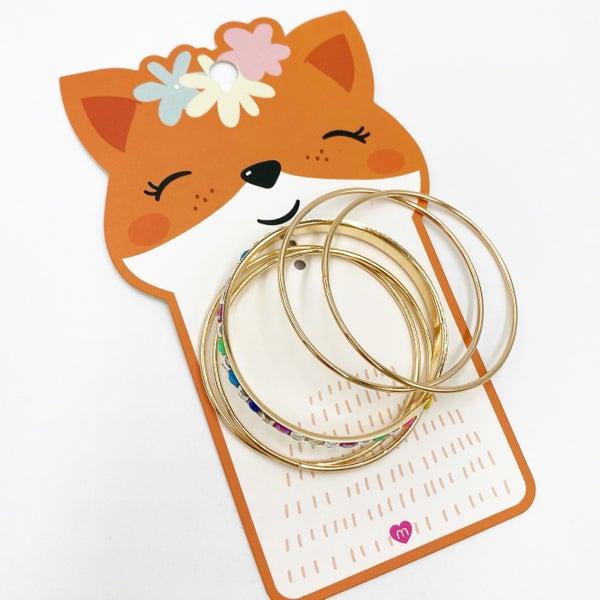 Kids Fox Jewel Bracelet Set