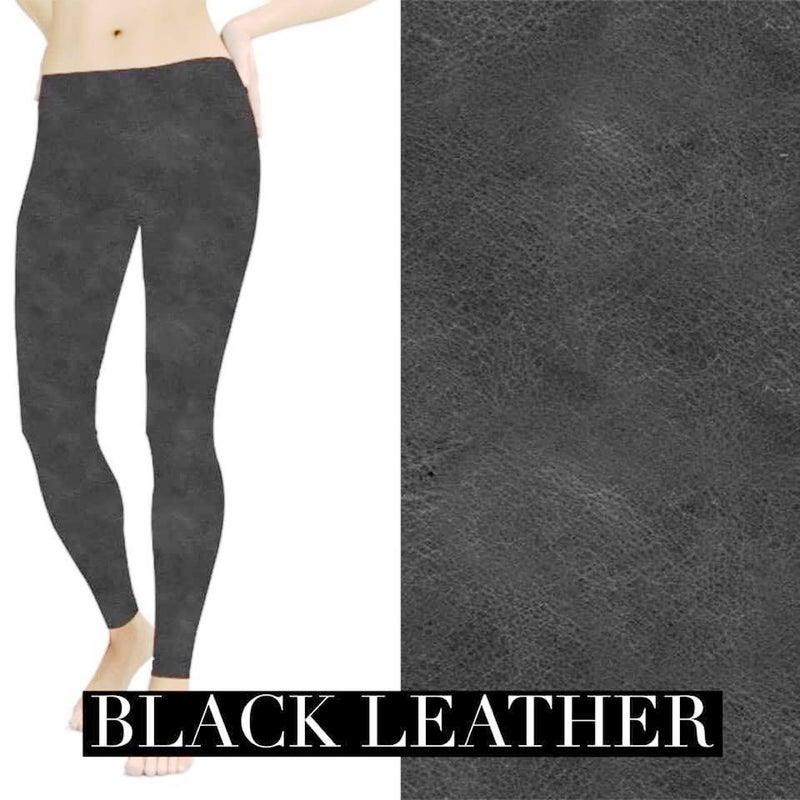 Black leather Look Leggings