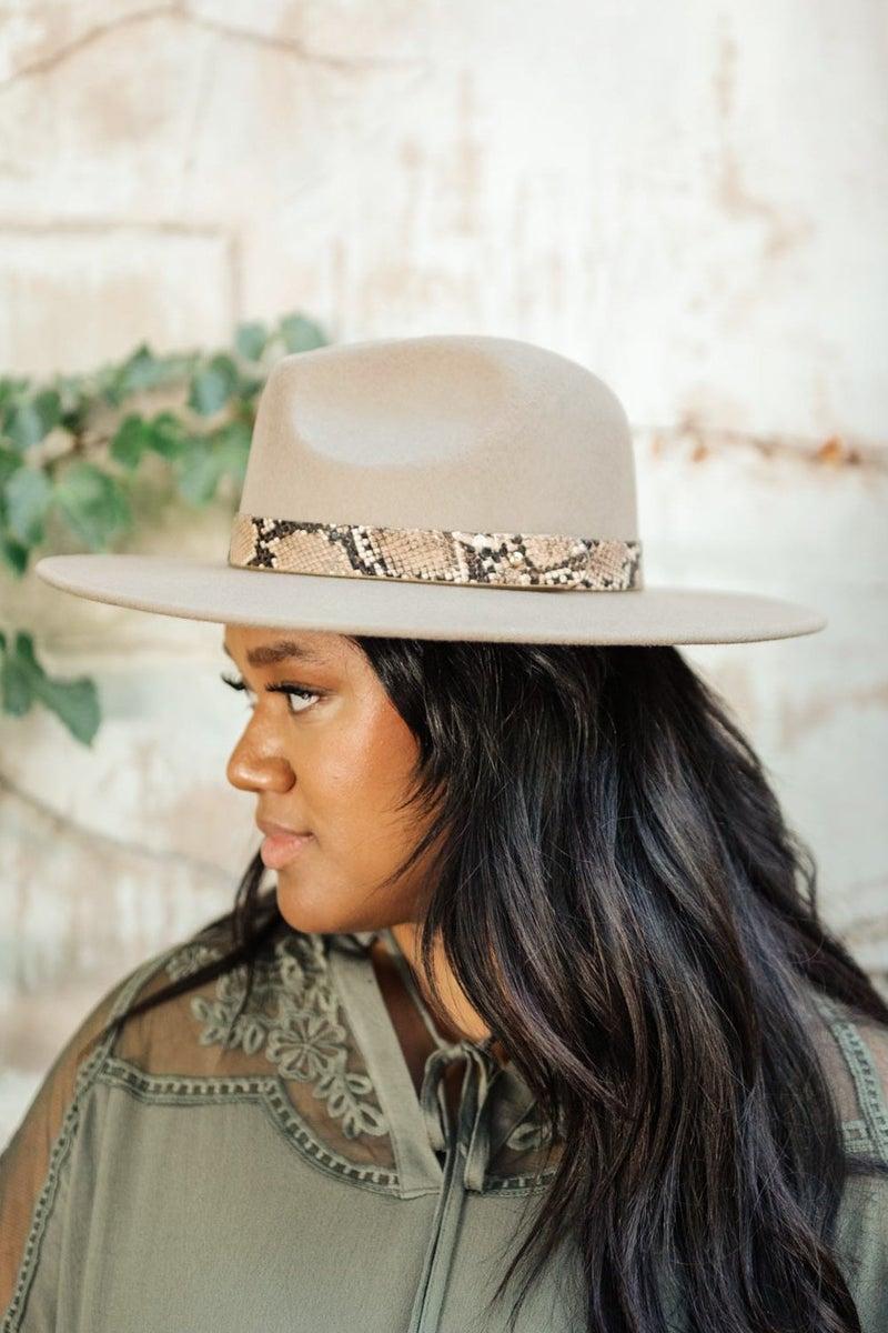 Panama Snakeskin Detail Hat