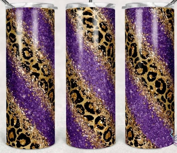 Purple Cheetah 20oz Tumbler
