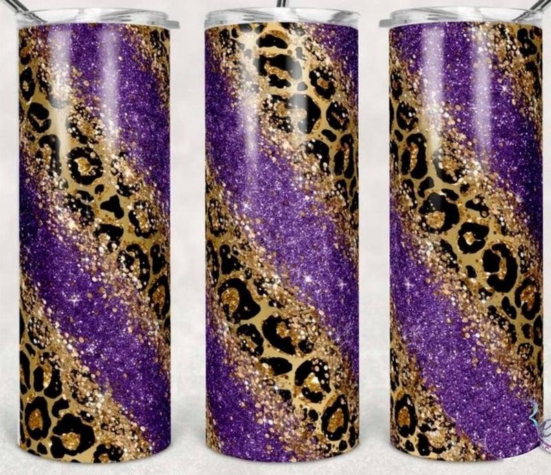 Purple Cheetah 20oz Tumbler