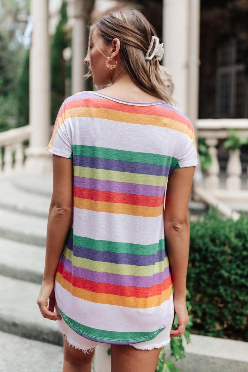 Retro Stripes Top