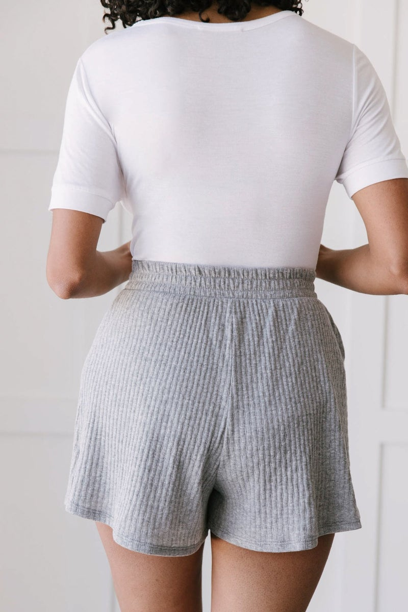 Ribbed & Ridiculously Comfy Shorts In Heather Gray