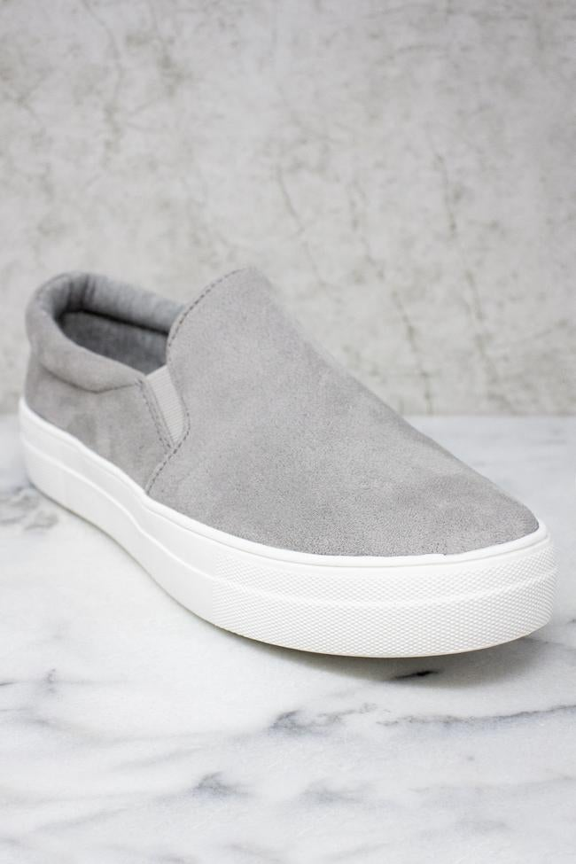 Slip Into Style Slip On Sneakers - Grey