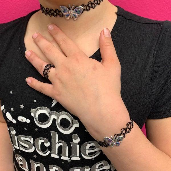 Butterfly Choker and Bracelet