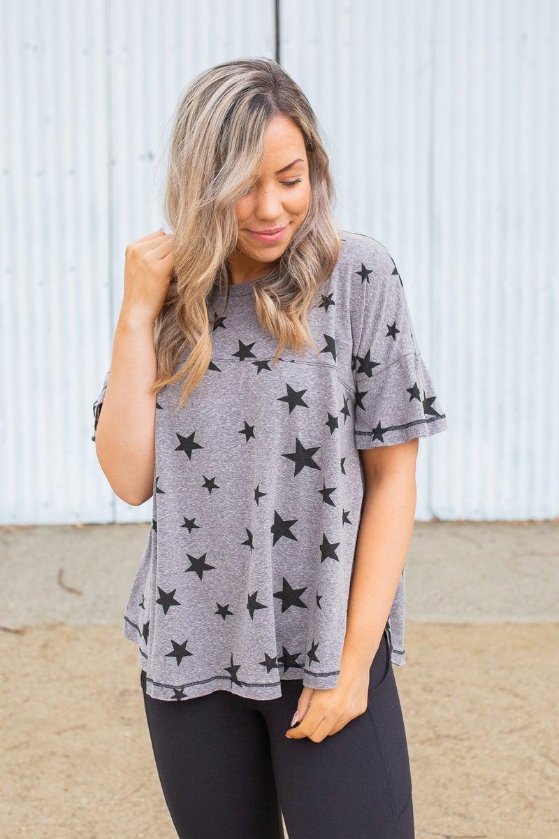 Starry Night Short Sleeve Top