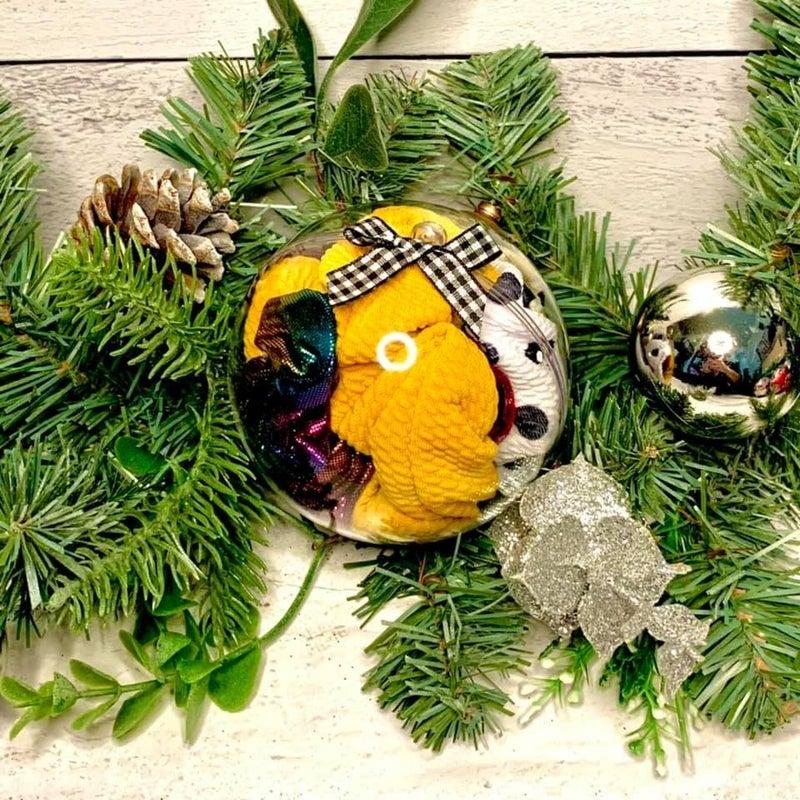 Scrunchie Stuffed Ornaments