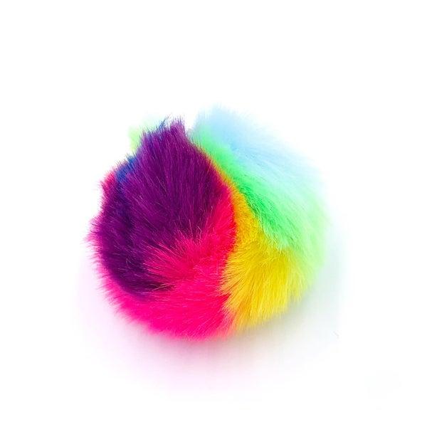 Tie Dye Pom Keychain
