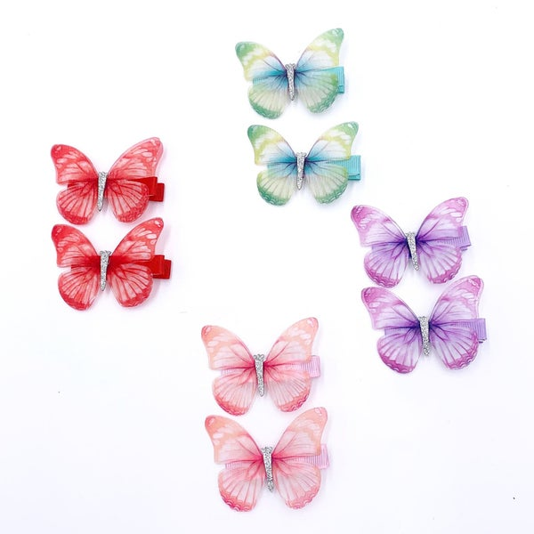 Colorful Butterfly Hair Clips