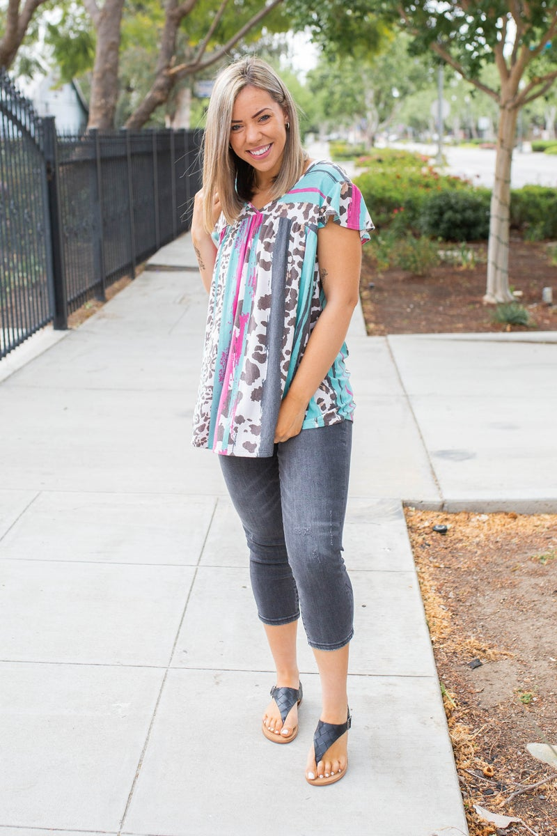 Just Because Short Sleeve Top