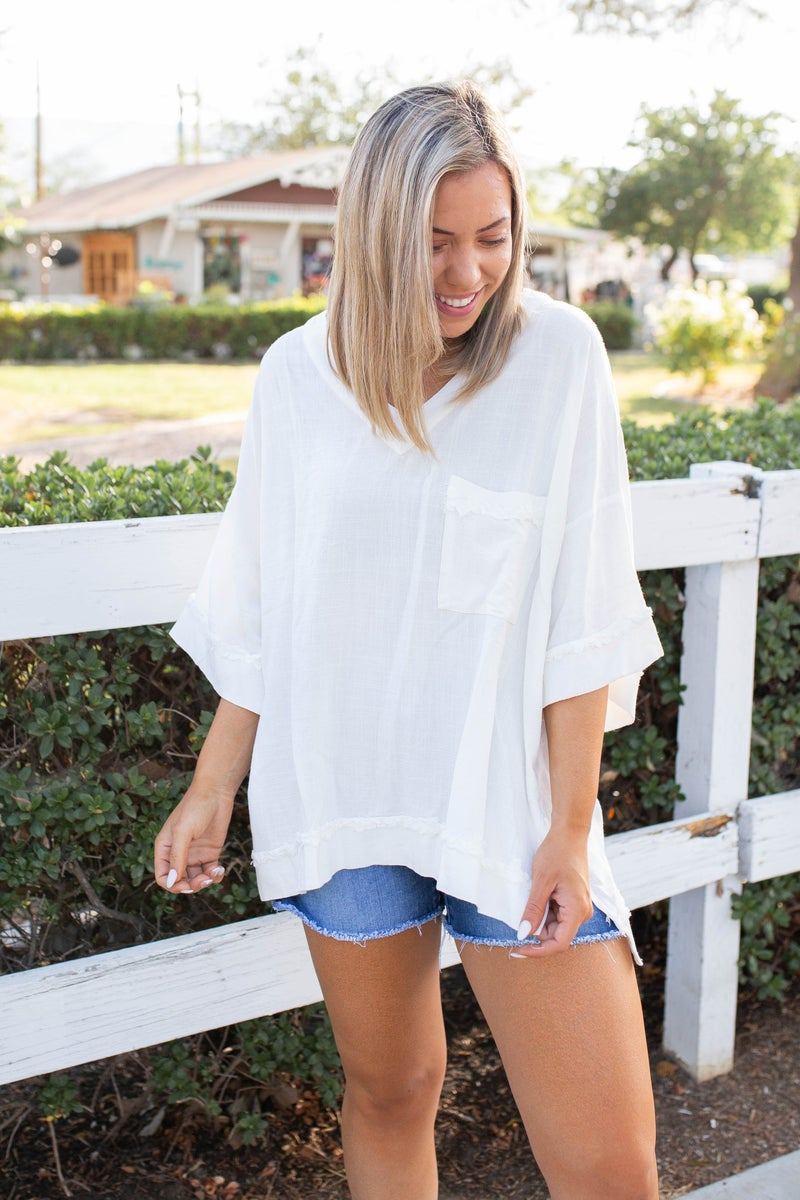 Frayed To Perfection in White