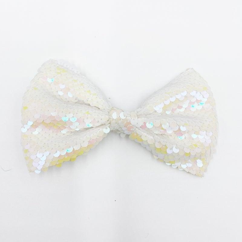 Sequin flip bow
