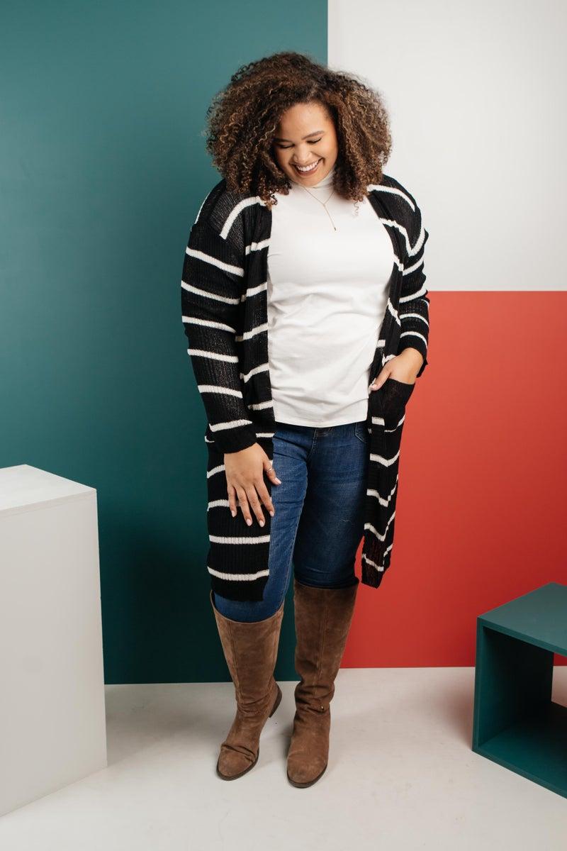 The Janessa Striped Cardigan