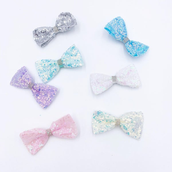 Shimmer Sequin Bow