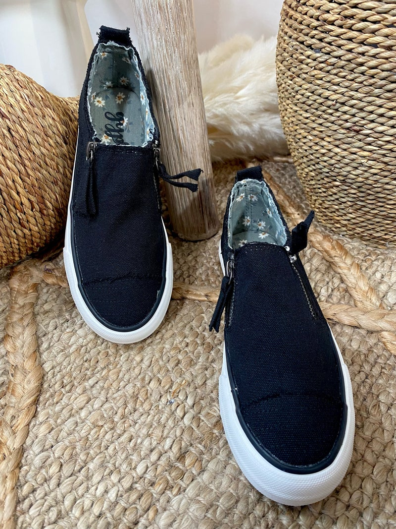Gypsy Jazz Black Zippy Sneaker