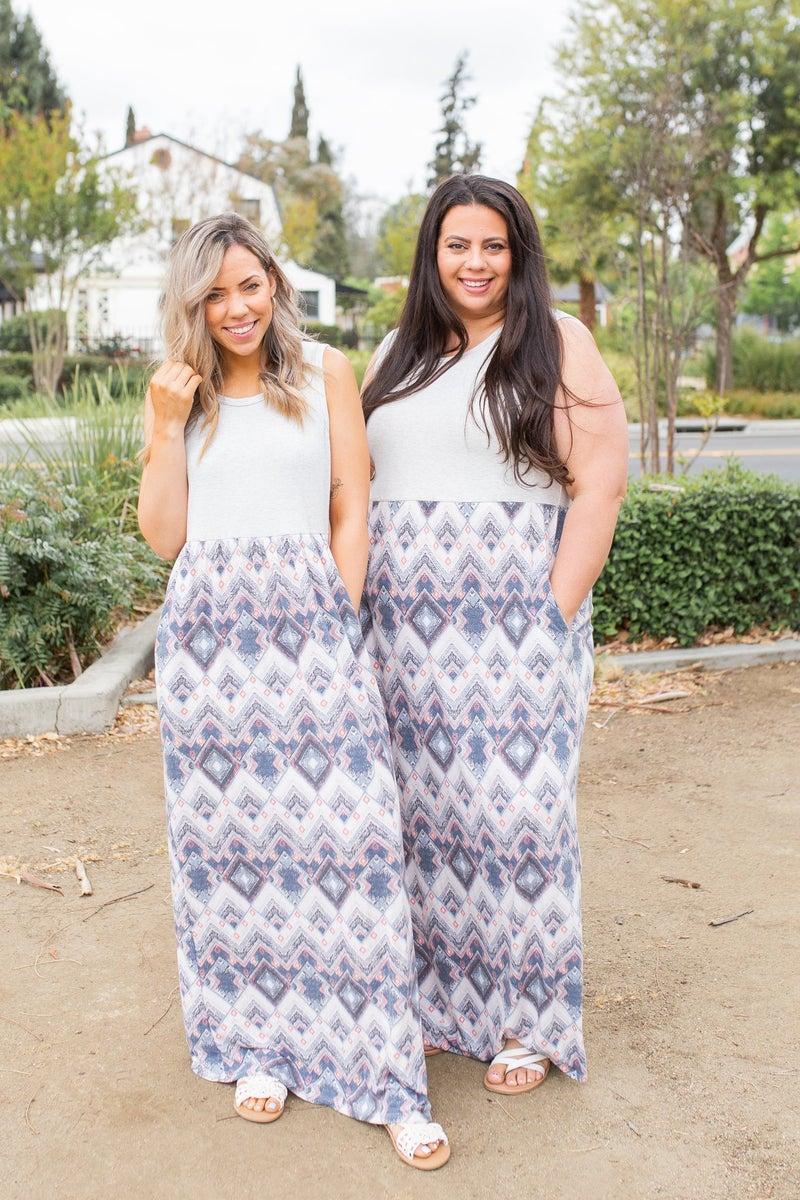 Aztec Vibes Maxi Dress