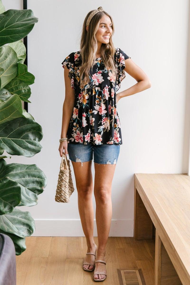 Floral A-line top