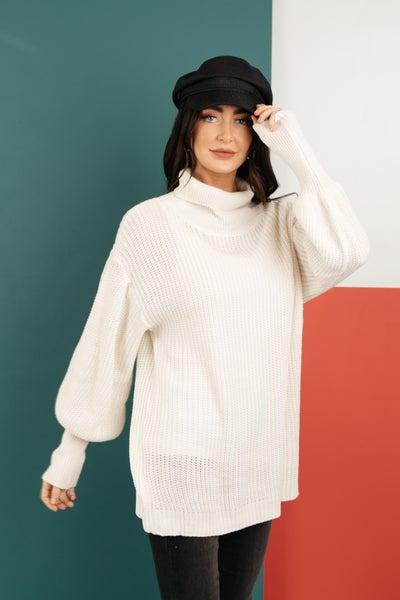 Cream Colored Classic Knit Sweater