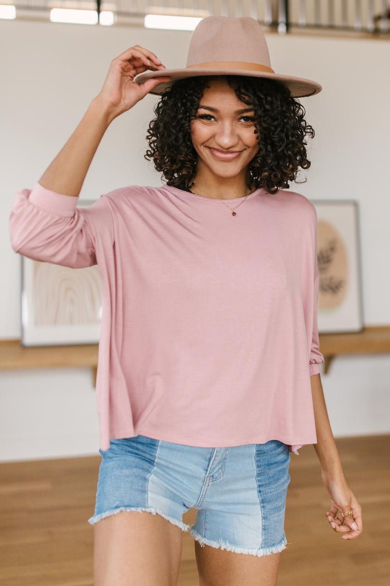 Open Minds Top in Pink