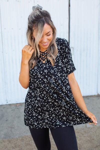 Glamour & Glitz Short Sleeve Top