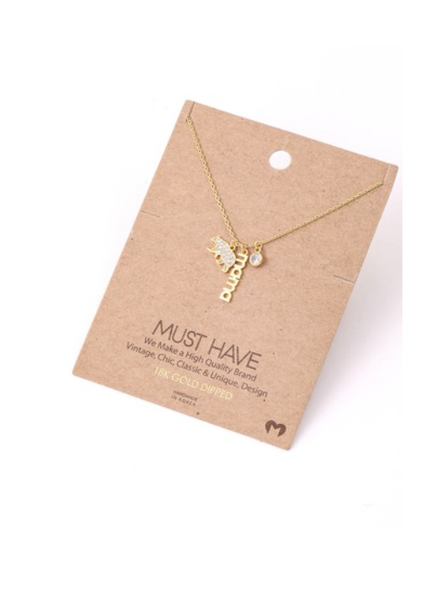 Mama Bear Charm Necklace