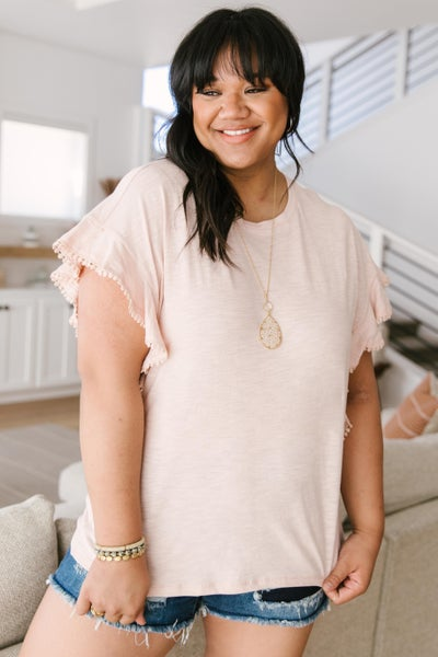 Lea Layered Top In Pink