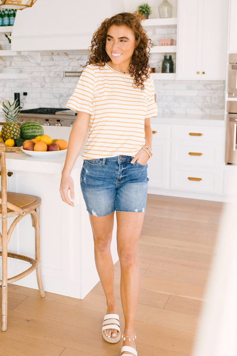 Mellow Yellow Striped Top