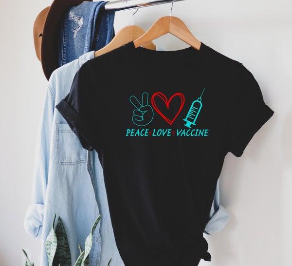 Peace love vaccinate color