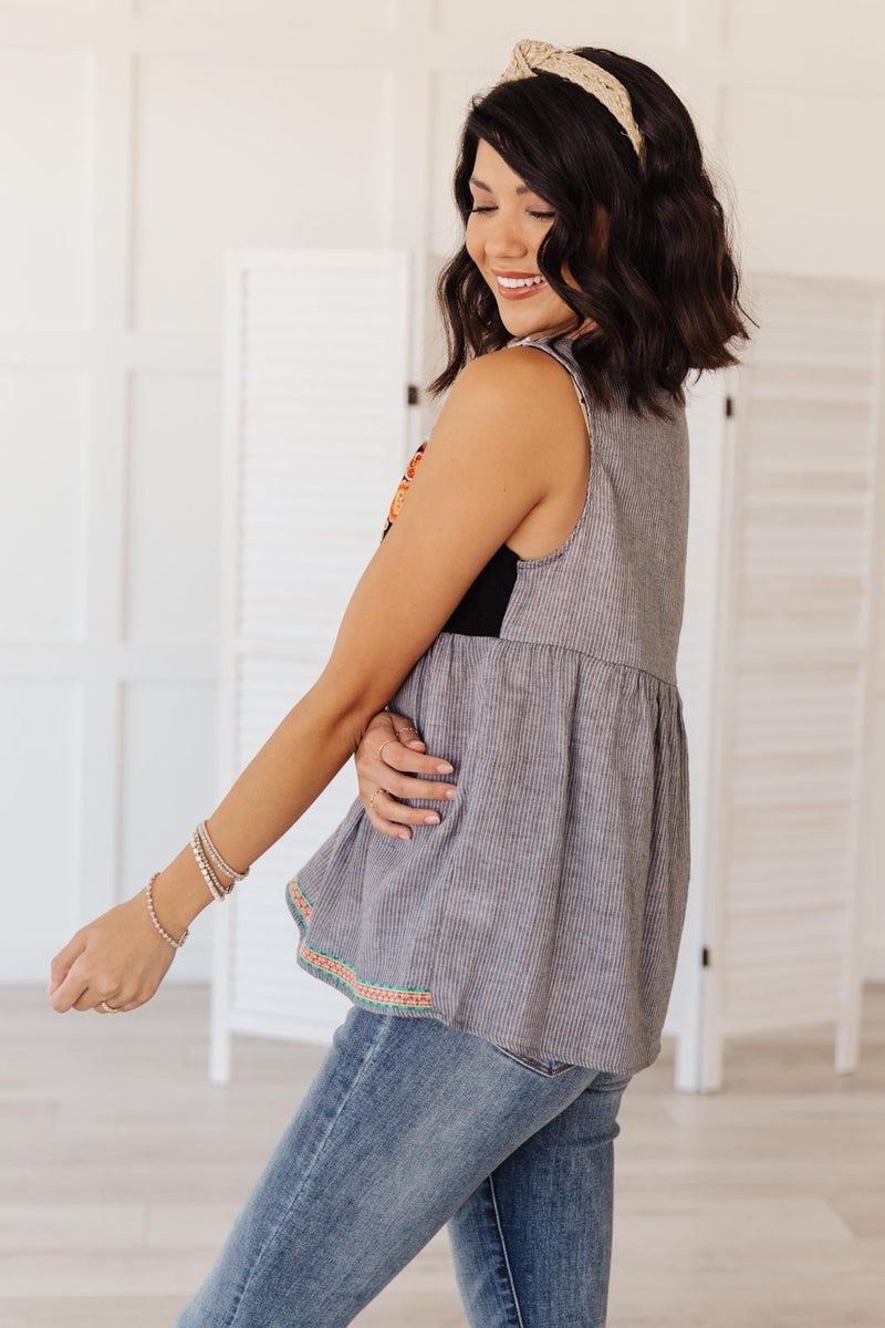 Harmony Top in Charcoal