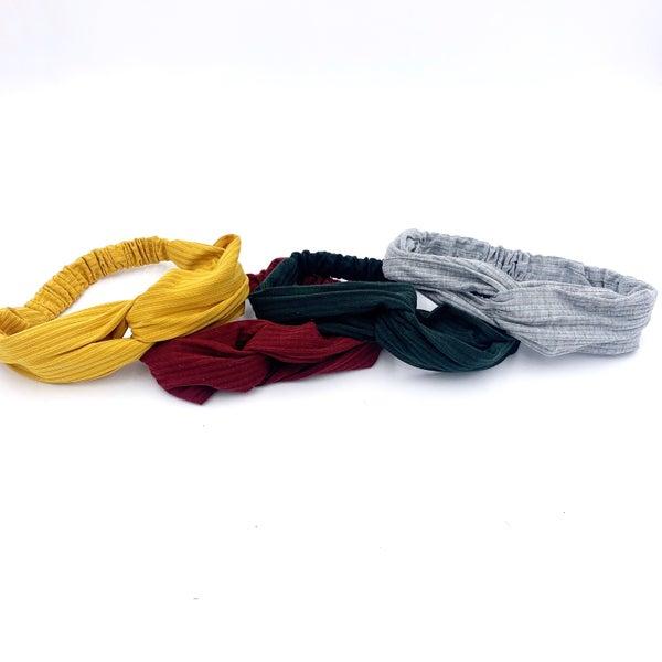 Solid Ribbed Headband