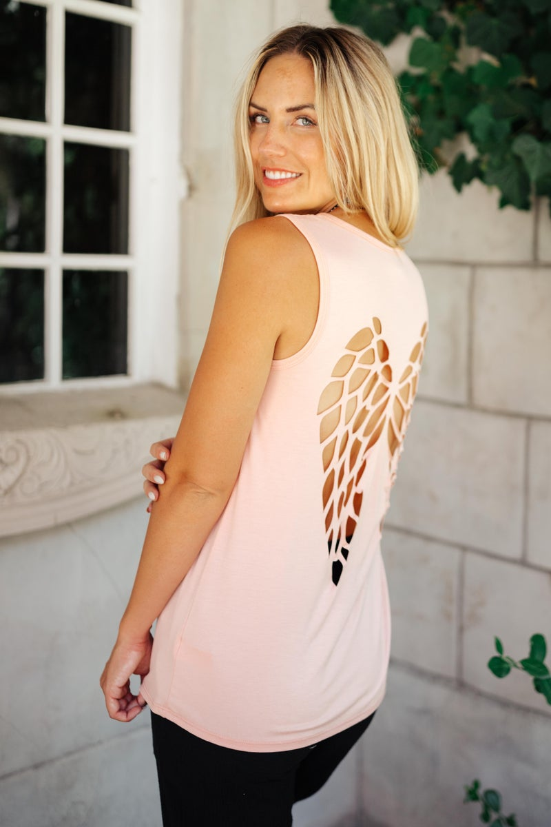Angelina Tank in Soft Pink
