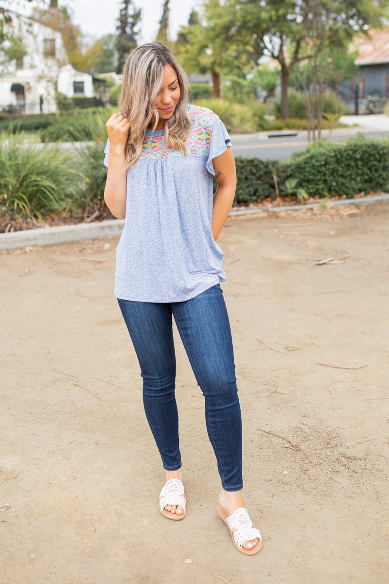 Together As One Ruffle Sleeve Top
