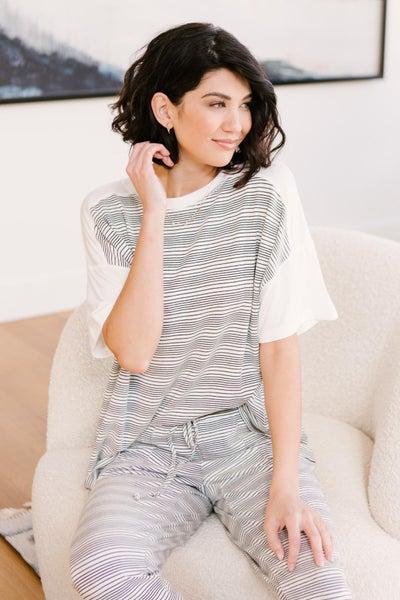 Cozy In Stripes Top