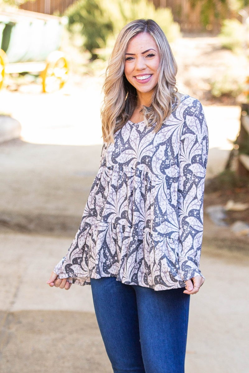 Leaf Me Be Tiered Tunic