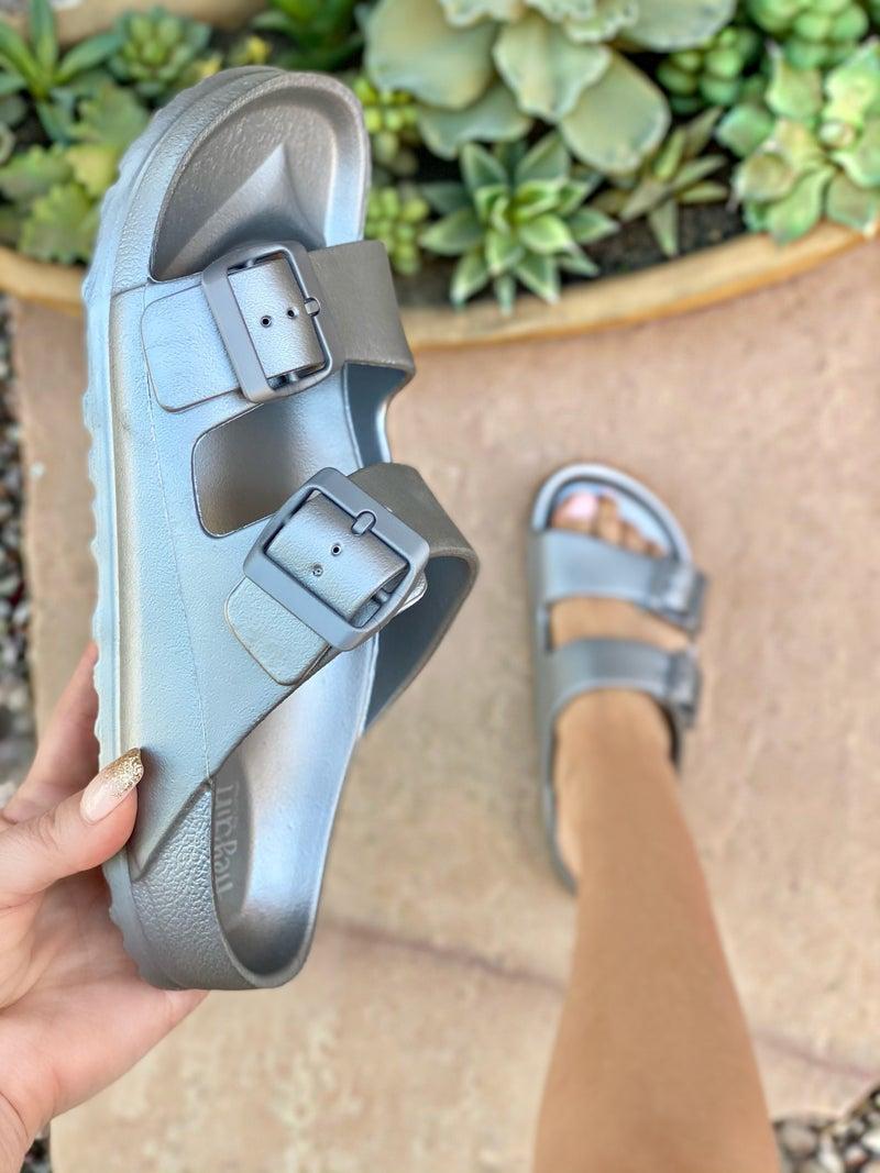 Corkys Sadie Silver Waterslide Sandal