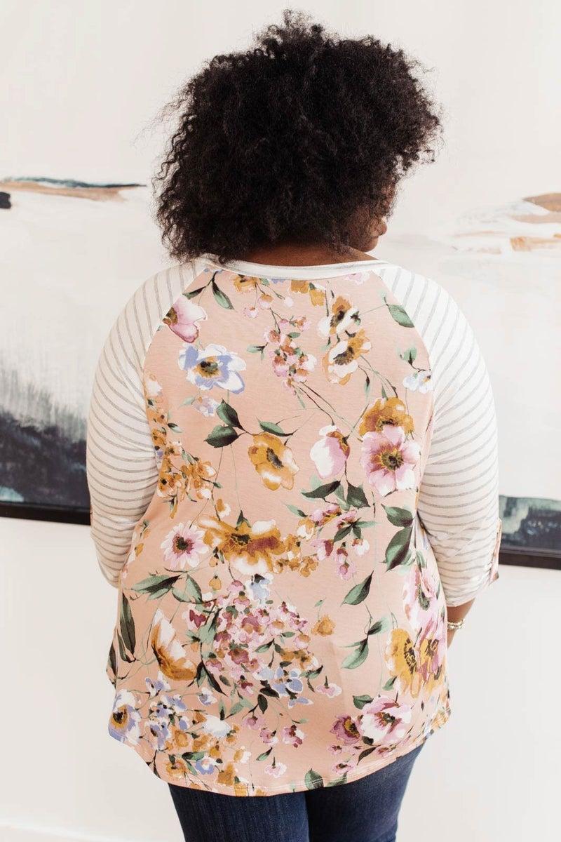 Floral Watercolor Raglan Top