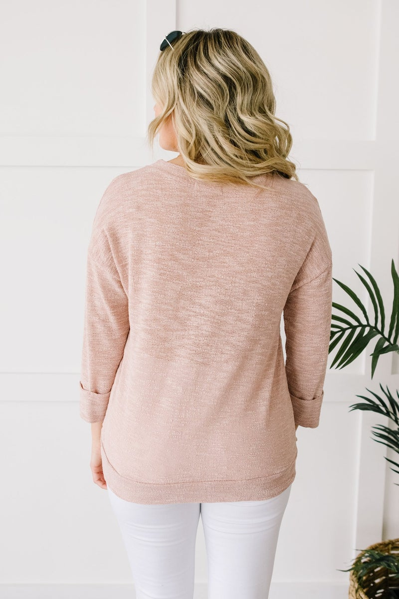 All Over It Top In Dusty Pink