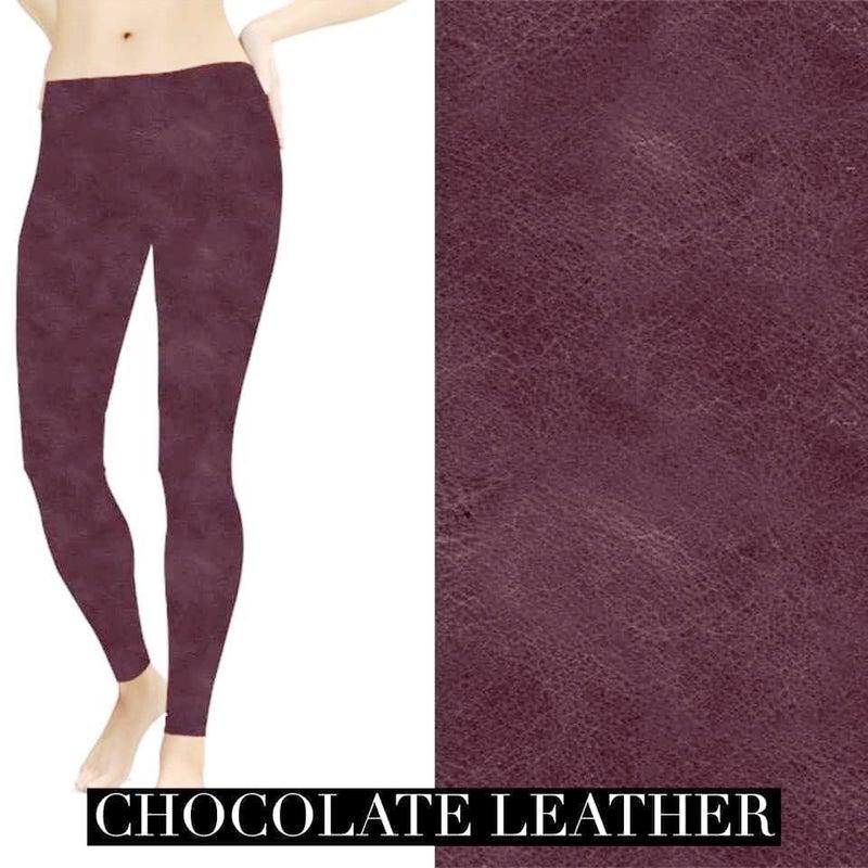 Chocolate leather Look Leggings