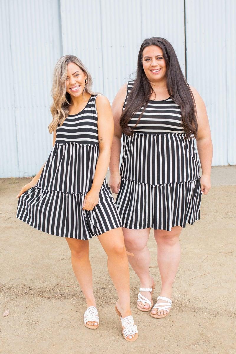 Tiered Decadence Striped Dress