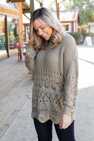 Beautiful Inside & Out Crochet Sweater