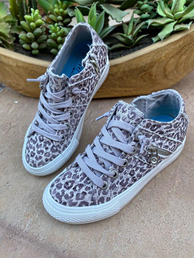 Blowfish Bailey Leopard Wedge Sneaker