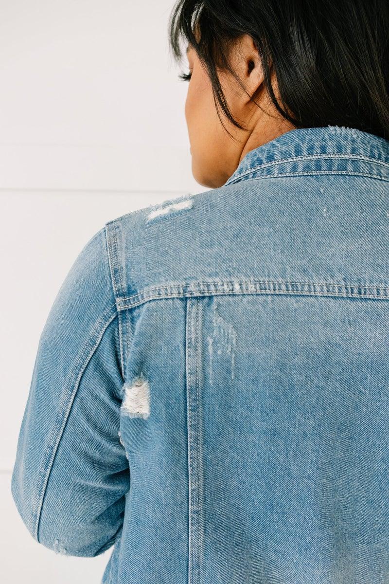 Distressed Vibes Denim Jacket