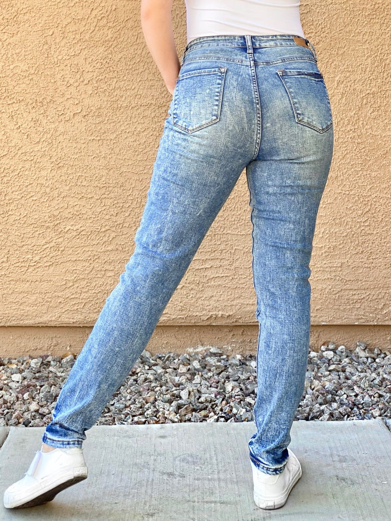 Tiffany - Judy Blue Acid/Mineral Wash High Waist Skinny