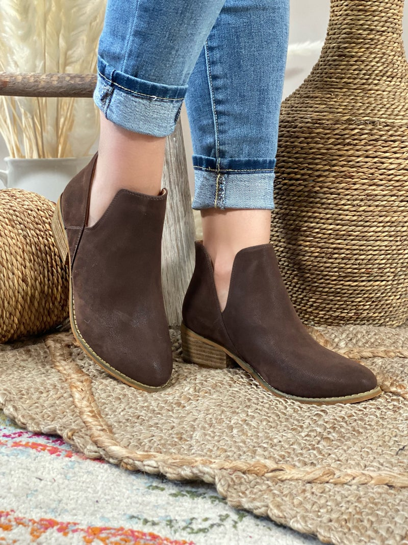 Corkys Wayland Bootie in Chocolate Brown