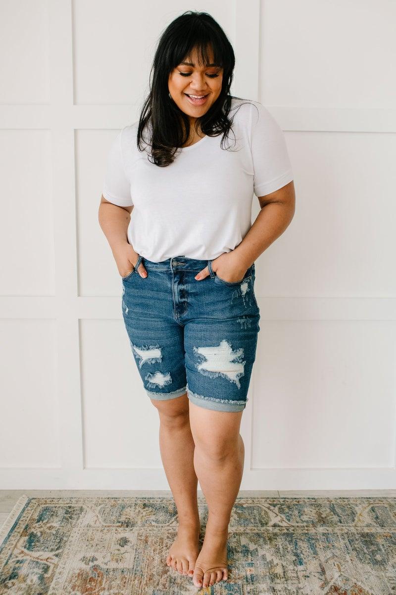 Longer Lengths Bermuda Shorts