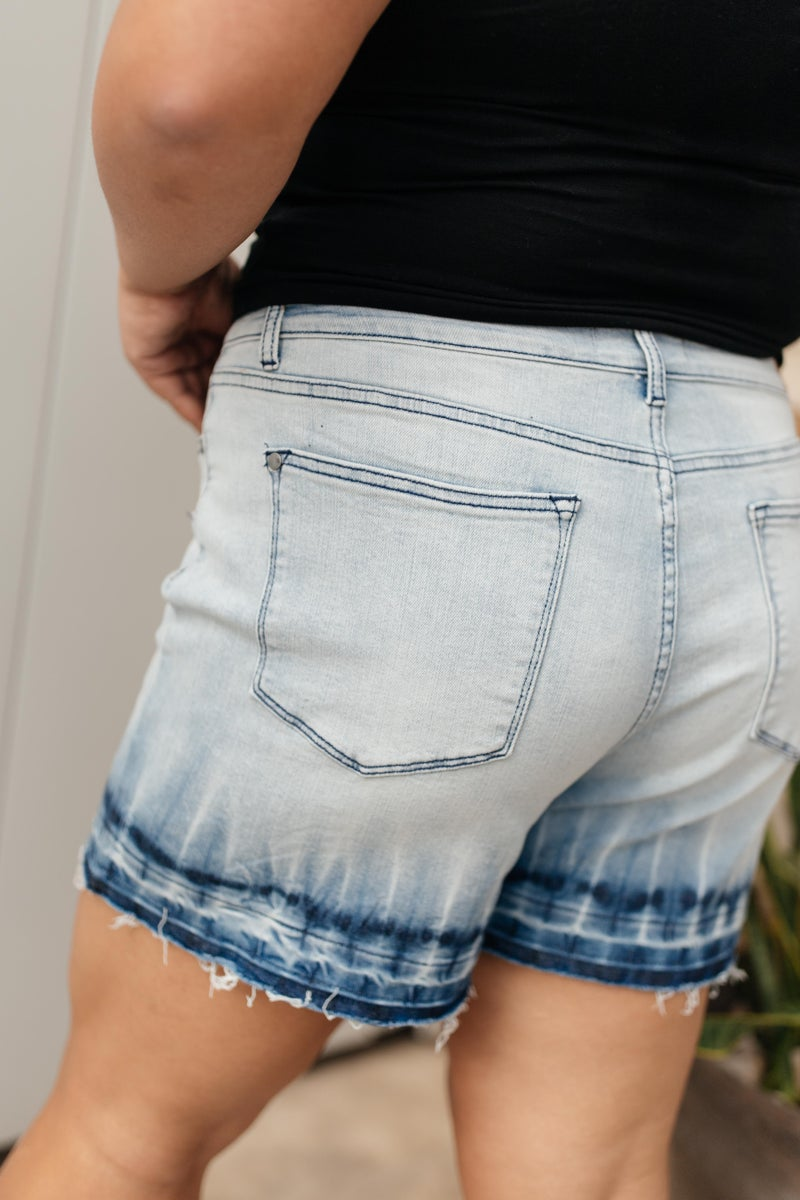 Melted Blues Denim Shorts